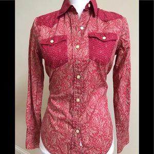 Ralph Lauren Red and Cream Western Style Shirt